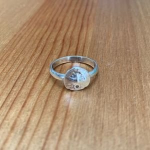 Sterling Silver Sand Dollar Ring size 8